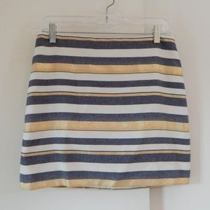 J CREW skirt stripe metallic mini XS 2